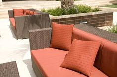 Sewing Cushions Give your old patio furniture new life when you recover patio cushions without sewing. - Update old patio cushion covers with a canvas drop cloth -- no sewing required! As an added bonus, these are removable and washable. Patio Furnishings, Furniture, Patio Furniture Redo, Redo Furniture, Patio Cushion Covers, Deck Furniture, Painted Patio, Patio Decor, Patio Cushions