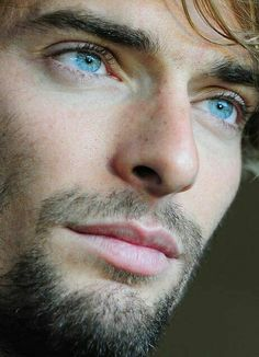 "Camille Lacourt scruff blue eyes > reference for Fabrizio Caprice, Laurent's Italian boyfriend during Interlude One of the online novel ""the last canvas"""