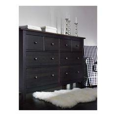 dresser for dinning room HEMNES dresser - black-brown - IKEA Hemnes Drawers, 8 Drawer Dresser, Ikea Dresser, Dresser Ideas, Ikea Bedroom, Bedroom Furniture, Master Bedroom, Ikea Nursery, Nursery Dresser