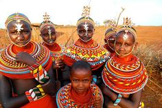 Samburu girls, Laikipia