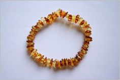Baby natural amber bracelet - love this style (need to convince hubby it will work!!)