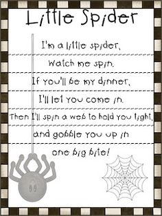 I LOVE having students work with poems. There are so many things you can do with poems. Students can identify rhyming words, high frequency ... Preschool Poems, Preschool Music, Kids Poems, Fall Preschool, Kindergarten Poems, Preschool Gymnastics, Kindergarten Graduation, Preschool Activities, Theme Halloween