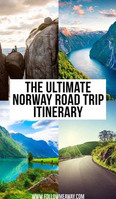 There are so many beautiful places in Norway to visit, so a road trip is the perfect way to travel! You can find The Ultimate Norway Road Trip Itinerary here for must see destinations in Norway and bucket list locations in Norway. Norway Travel Guide, Europe Travel Tips, Norway Roadtrip, Trips To Norway, Norway Camping, Norway Vacation, Travel Hacks, Road Trip Europe, Road Trip Destinations