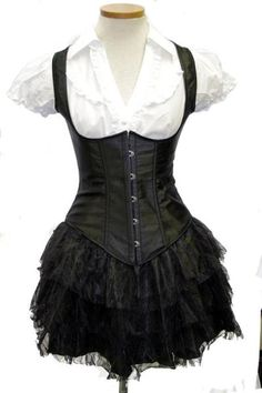 Black Waistcoat Corset that Oni, CS, and Chrystal can agree on :)