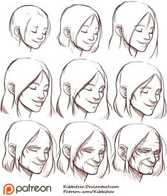 Aging Reference sheet 2 by Kibbitzer.deviantart.com on @DeviantArt