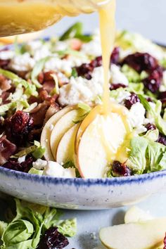 Shaved Brussels Sprout Salad. Finely chopped brussels sprouts make the best salad! Loaded up with bacon, feta, cranberries, and apples. All drizzled with a homemade bacon vinaigrette. Sometimes I feel that salads get pushed to the side for holiday meals, or that they're an afterthought. Everyone is super excited about the turkey, or the stuffing...Read More