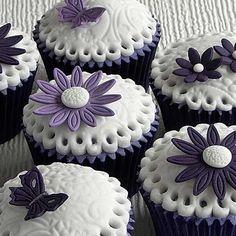 grey cupcakes - Google Search