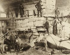 Verona - Restauro pila destra Ponte Pietra - G.Bertucci 1890 circa