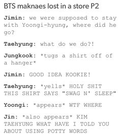 BTS maknaes lost in a store p2