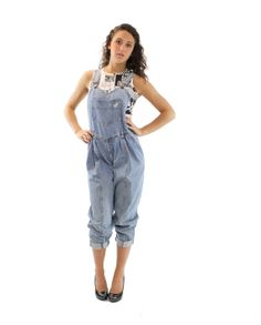 80s Denim Overalls Guess Jeans Light Blue Pants by ScarletFury, $65.00, https://www.etsy.com/listing/191610252/80s-denim-overalls-guess-jeans-light Women's teen spring fashion clothing outfit
