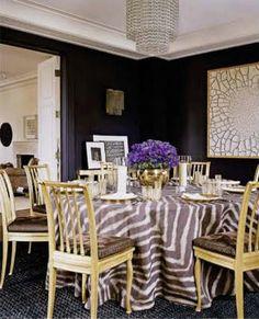 zebra dining room