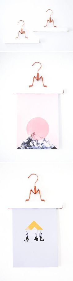 DIY Wall Hangers - smart way to display art