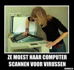 Computer scannen voor virussen.. :-) #Virus #Computer