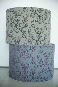 Ecotale linen printed with Farrow & Ball Dead Flat paint using Tapet patterned paint rollers