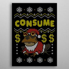 Consume by Rafael Jurado Castillo Thing 1, Hanging Frames, Large Prints, Kids Rugs, Metal, Weekender Tote, Yoga Mats, Baby Onesie, Poster