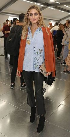 Olivia Palermo wore another perfect outfit when she attended the Markus Lupfer presentation.  See more action from the London Fashion Week FROW here: http://lifestyle.one/grazia/fashion/news/london-fashion-week-front-row/