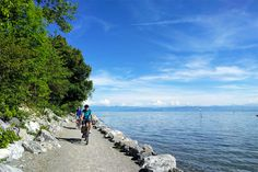 8-daagse fietsvakantie rondom de Bodensee. Een tocht door drie landen, met een uitstap naar de watervallen van Schaffhausen. Over vlakke, geasfalteerde fietspaden langs de oever van een van de grootste meren van Europa. Meer info en boeken bij ECKTIV Rondom, Beach, Outdoor, Europe, Bregenz, Konstanz, Rice, Outdoors, The Beach