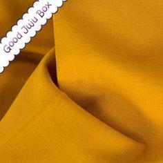 Coton mélangé 13.80 €/m , Sweat d' Été - Eike - Uni - 313 Moutarde est une création orginale de Good-Juju-Box sur DaWanda