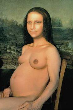 0093 [Yasumasa Morimura] (b) Mona Lisa in Pregnancy