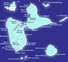Les Iles de Guadeloupe : Basse-Terre, Grande-Terre, Marie-Galante, Désirade, Les Saintes, Saint-Barth et Saint-Martin