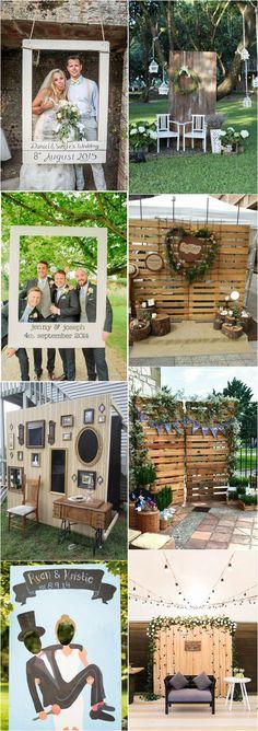 20 Wedding Photobooth Ideas You'll Like unique wedding photo booth decor ideas / www. Craft Wedding, Wedding Dj, Trendy Wedding, Unique Weddings, Wedding Events, Rustic Wedding, Dream Wedding, Wedding Decorations, Woodland Wedding