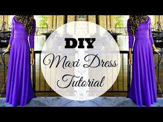 DIY | How to Make a Maxi Dress | Circle Skirt - YouTube