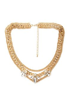 Layered Chain Petal Necklace | Forever21 - 1000122710
