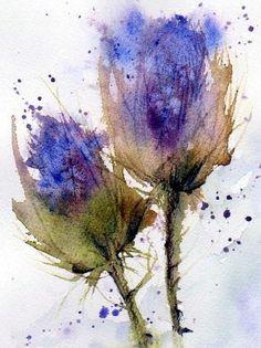 'Blue Thistle' by Anne Duke.