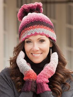 Maggie's Crochet · Elegant, Fashionable, Chic: Accessories to Crochet #crochet #pattern #hat #mitten #scarf #cute