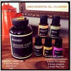 Améo essential oil flu bomb