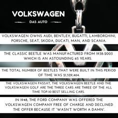 Five #facts that show just how big #Volkswagen is  #VolkswagenFacts #CarFacts