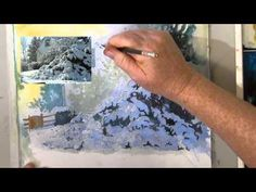 ▶ Painting Snow in Watercolor - YouTube  deb watson    a really pretty one to try joy