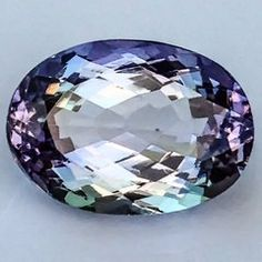 Natural 3.92ct TANZANITE Zoisite VIOLET BLUE GREEN Faceted Oval Gemstone