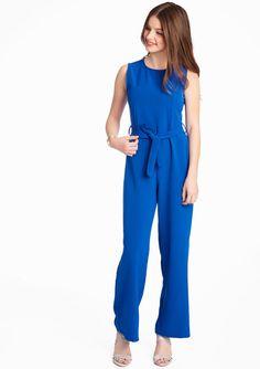 Lola Liza Effen jumpsuit ELECTRIC BLUE blauw cobalt