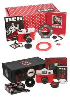 The White Stripes & Lomography camera sets
