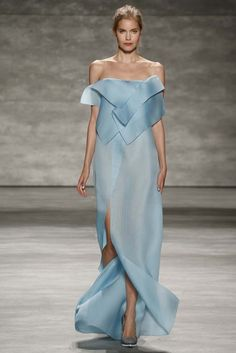 """Angel Sanchez RTW Spring 2015 """"And the LORD said to Moses, """"Go to the people and consecrate them today and tomorrow. Have them wash their clothes."""" Exodus 19:10"""