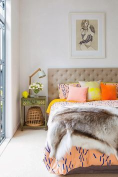Bedroom in home of Rickie Dee of Suprette, in Homestyle via The Design Chaser