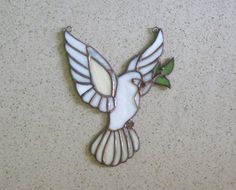 Stained glass ornament Dove of peace Eucharist dove patterns Stained glass panel Tiffany suncatcher