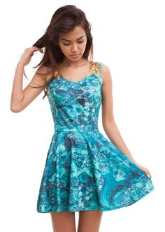 Precious Skater Dress. One of its kind, unique fully printed dress. Stylish and comfy - no matter how often you wash it, it won't fade away or loose it's shape. #Fashion #Dresses #OnlineShopping #FreeShipping #OOTD