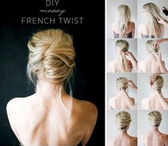 Messy French twist tutorial - 12 Long Hairstyles For Everyone | CircleTrest