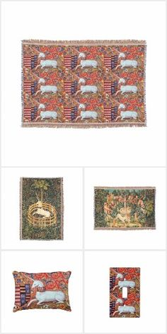 UNICORN STORIES FLORAL HOME DECOR COLLECTION #homedecor #garden #tapestry #antique #art #horses #pillows #blankets