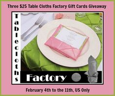 » Win A $25 TableClothsFactory.com Gift Card- 3 Winners | Zoes Printable Coupons