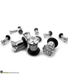 Stainless Steel Screw Ear Gauges Flesh Tunnels Plugs Stretchers Expander CAC