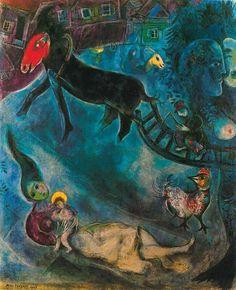 """Marc Chagall  """"La virgen con el trineo"""""""