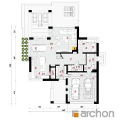 Dom w felicjach Home Building Design, Building A House, Gable House, Modern House Design, Craftsman, House Plans, Pergola, New Homes, Floor Plans