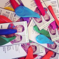 balloon  invitations for  children's party