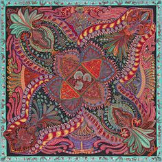 Hermes Carre 90 Scarf Stole Silk Le Jardin de la Maharani by Annie Faivre New Gardens Of The World, Mughal Paintings, Hermes Online, Silk Shawl, Designer Scarves, Scarf Design, How To Wear Scarves, Silk Scarves, Hermes Scarves