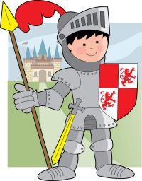 Knight Theme from Activity Village, including tons of free printables (coloring pages, mazes, shield template) and craft ideas!