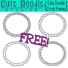 {FREEBIE ALERT!!!} 4 unique frames x 3 different versions=12 frames in all!This Cute Doodle Circle Frames set includes 4 FREE hand-drawn frames!Each frame comes in 3 different versions: all white, clear fill, & all clear. This will help meet your layering needs! :)These items are hand-drawn, digitally colored, and available for instant download!All graphics included are in PNG format @ 300 dpi.