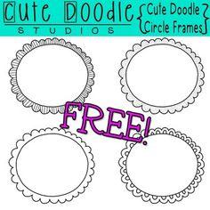 {Freebie} Cute Doodle Circle Frames